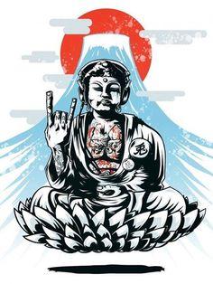 Creative Illustration, Great, and Buddha image ideas & inspiration on Designspiration Psy Art, Illustration Art, Illustrations, Dope Art, Urban Art, Japanese Art, Graphic Art, Concept Art, Anime Art