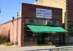 Brant's Meat Market features fine fresh meats as well as dry cured bacon, beef jerky, homemade Czech bologna, and wonderful smoked link sausages. The Czechoslovakian ring bologna is a big treat with everyone that tries it, and I love the smoked sausage on pizza. Brant's market has been operating for 92 years, over 76 of those years by the same family.