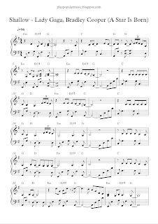 Play Popular Music Shallow Lady Gaga Bradley Cooper A Star Is Born Popular Piano Sheet Music Piano Sheet Music Free Violin Sheet Music