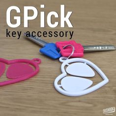 Strum your heart out with GPick heart shaped guitar pick key accessory. Need a pick? Search for the heart in your bag and break one off! Visit us at 3DShook.com #3dshook #3dprinting #3dprinted #guitar #musician #design #tech #technology #hobby #diy #instagood #makeraddictz #keychain #makers #guitarpick by 3dshook