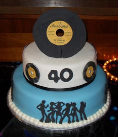 I made this cake for my BFFs 40th birthday. He had a 70s themed party. the…