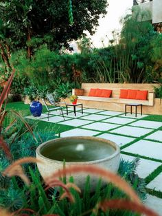 Give your modern landscape a facelift with socially inviting comfortable seating, new plants, and mulch. Are you making Most Out Of Your Outdoor Living Space This Summer? Find out how on DigThisDesign.net