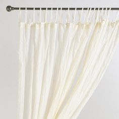 Natural Crinkle Voile Cotton Curtain | World Market