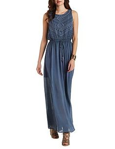 Andree Embroidered Maxi Dress