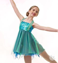 Curtain Call Costumes® - Our Time A graceful contemporary style to add to your under the sea adventure - green/blue makes great seaweed, or cerise for a fish