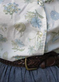 """An inspiring #Hannah combo - vintage print, great belt, a-line skirt."" - Jenn Rogien"