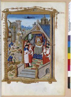 Construction d'Aix la Chapelle, BNF, Français 2820, fol64, XVIe siècle
