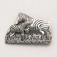 Mother and Baby Zebra Pin at theBIGzoo.com, an animal-themed store established in August 2000.