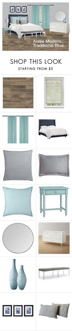"""""""Traditional Modern Blue"""" by legacy-housing on Polyvore featuring interior, interiors, interior design, home, home decor, interior decorating, WALL, Home Decorators Collection, Portico and JCPenney Home"""