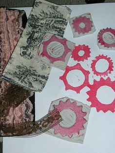 Cogs & Gears Handcarved Stamps