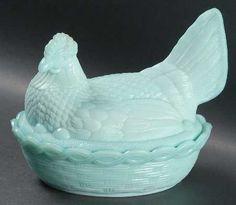 Your Favorite Brands Vintage Finds - Milk Glass and Spring Gems Hen on Nest