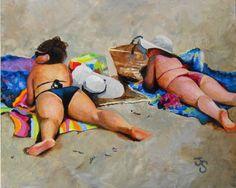 Girl on beach #dpw #challenge #acrylic #art #Seattle #jtrentart