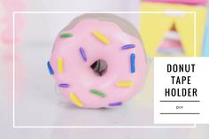 Tutorial (DIY) de como fazer um Porta Fita de Donuts Fácil
