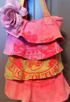 Hand Dyed Juicy Couture Bag Purse With Ruffles by FAITHandLACE, $65.00