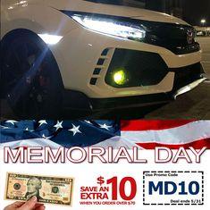 12 13 HONDA 9th CIVIC 4D Sedan Daytime Runing Light Lamp Europe ASIA Fog DRL
