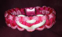 Cobra Stitch Bracelet with a heart.   www.floydsparacordbracelets.com