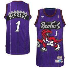 3596d052c3a3 Men s Toronto Raptors Tracy McGrady adidas Purple Hardwood Classics Swingman  Jersey