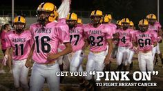 Love seeing the G-Men and all the football teams wearing pink for breast cancer awareness! Breast Cancer Walk, Breast Cancer Survivor, Breast Cancer Awareness, Pink Out, Go Pink, Youth Football, Football Players, Gil Scott Heron, Remembering Mom