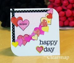 card sketch 8 - clearsnap,colorbox,stephanie barnard,premium dye ink,dye ink pads,stamped card,stamping,valentine's day,valentine card,stamp...