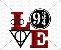 Harry Potter Love Design SVG DXF PNG etc. Harry Potter Tattoos, Harry Potter Diy, Harry Potter Quotes, Silhouette Cameo Christmas, Silhouette Cameo Projects, Silhouette School, Silhouette Portrait, Vinyl Designs, Cricut Design
