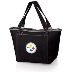 The Pittsburgh Steelers Topanga Cooler Tote by Picnic Time is fully insulated and makes a great cooler bag for tailgating as well as running to the store in Steelers fashion.