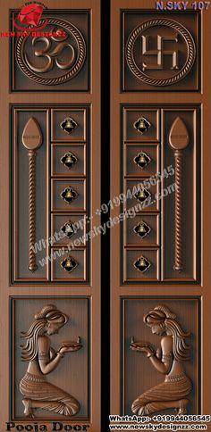 House Main Door Design, Wooden Main Door Design, Pooja Room Door Design, House Outside Design, Simple False Ceiling Design, Temple Design For Home, Kali Hindu, Actors Birthday, Pooja Mandir