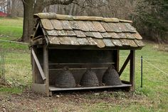 "Want to build a little Bee Skep house for mine one day when I can create my folky ""dream garden"" !"
