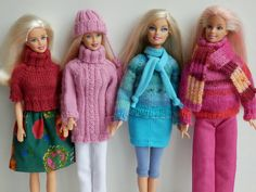 Barbie Clothes, Barbie Dolls, Barbie Crochet Gown, 40th Birthday For Women, Knitting Dolls Clothes, Doll Patterns, Arm Warmers, Lana, American Girl