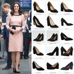 6c5246fb6a1 Click to shop repliKates of the black Tod s block heel suede pumps Kate  Middleton Shoes