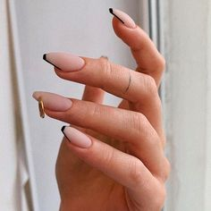 French Short Coffin Nails with Ring Clips ❤ 30+ Outstanding Short Coffin Nails Design Ideas For All Tastes ❤ See more ideas on our blog!! #naildesignsjournal #nails #nailart #naildesigns #coffins #coffinnails #shortcoffinnails #coffinnailshapes