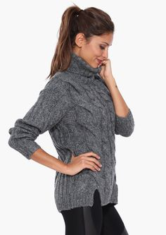 Ryan Turtleneck Sweater in Charcoal