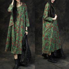 Dress Information  (US 22w-28w, UK 26-32, EU 54-60)  Length:113cm Bust:141cm Shouder sleeve:55cm Sleeve width:38cm Cuff:26cm Hip:135cm Hem:166cm  Model...