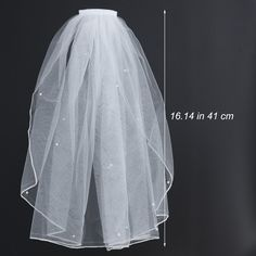 Simple Short Wedding Veil Bridal Tulle Veils with Comb Ribbon Edge and Pearl for Bride Wedding Party Photography(White) Wedding Dress Shopping, New Wedding Dresses, Wedding Veils, Tulle Wedding, Elegant Wedding, Wedding Bride, Short Veil, Bride Veil, Party Photography