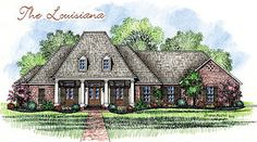 Madden Home Design - Acadian House Plans, French Country House Plans | The Louisiana