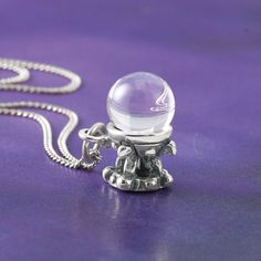 Crystal Ball Necklace - Women's Clothing & Symbolic Jewelry – Sexy, Fantasy, Romantic Fashions