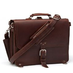 Saddleback Leather Thin Briefcase Large Case for Men