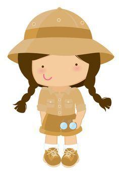 Baby S Grandkids Safari Girl Clipart Minus Paper Dolls Kids Clips