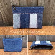 Just love sorting through my upcycled denim scrap pile, with so many different shades of blue. The smaller scraps get pieced together to… Denim Tote Bags, Denim Handbags, Denim Purse, Quilted Handbags, Diy Jeans, Recycle Jeans, Denim Scraps, Denim Ideas, Fabric Bags
