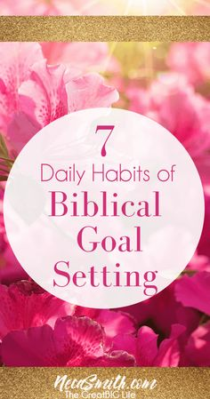 Set Godly Goals with these 7 Habits of Biblical Goal Setting!