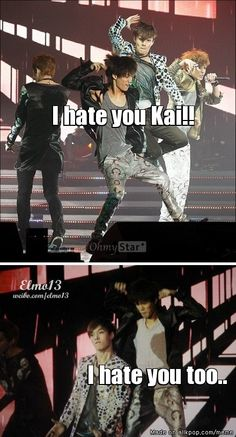 Im dying XD theyre so ridiculous Chanyeol in that first pic LOL <3 and kris is like oh god... XD