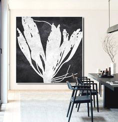Large Abstract Painting Canvas Art, Acrylic Painting On Canvas Wall Art, Flowers, Hand Made Original Art. - Celine Ziang Art