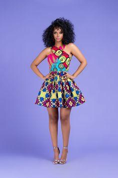 African Print Sabrine Patchwork Mini Dress By Diyanu - African Fashion 2019 - Women Best African Dress Designs, Best African Dresses, Latest African Fashion Dresses, African Print Dresses, African Design, African Attire, African Style, African Outfits, African Prints