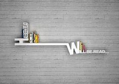 Soooo cool!!! (: 33 Creative Bookshelf Designs  Picture is of #6: Has been read / will be read bookshelf