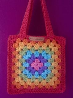Excited to share the latest addition to my shop: Granny Square Bag / Crocheted Bag / Childrens Bag / Rainbow Bag / Little Bag Kinder Oma Quadrate Granny Square Bag / Crocheted Bag / Childrens Bag / Rainbow Bag / Little Bag Crochet Tote, Crochet Handbags, Crochet Purses, Crochet Crafts, Crochet Projects, Diy Crafts, Granny Square Häkelanleitung, Granny Square Crochet Pattern, Crochet Squares