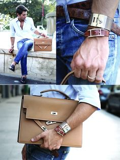 Interesting leather on Mens belts in My new Hèrmes Kelly Depeche, Totally in love! =D (by Filippo F.) #GiftsforGeezers