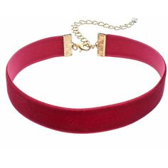 Velvet Ribbon Choker Necklace (£6.90) ❤ liked on Polyvore featuring jewelry, necklaces, red, velvet jewelry, red velvet jewelry, choker jewelry, clasp necklace and ribbon jewelry
