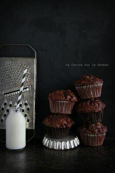 ... muffins double chocolat ...