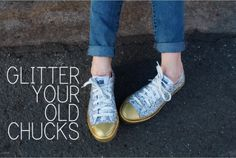 Glitter your old Chucks