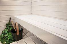 Loihdi saunasta raikkaan valkoinen Teknoksen uudella Satu Saunavahalla