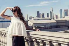 The Doors dedicated to L.A. one of their best album titled L.A. Woman and #AlphaStudio celebrate the city making a fashion shooting for Spring Summer Collections!   #SS2015 #knitwear #losangeles #california #fashion #fashionshooting #florence #white #blouse #womenswear #womenstyle #womensfashion #style #stylish #stylishoutfit #hollywood #glam #glamour #thedoors